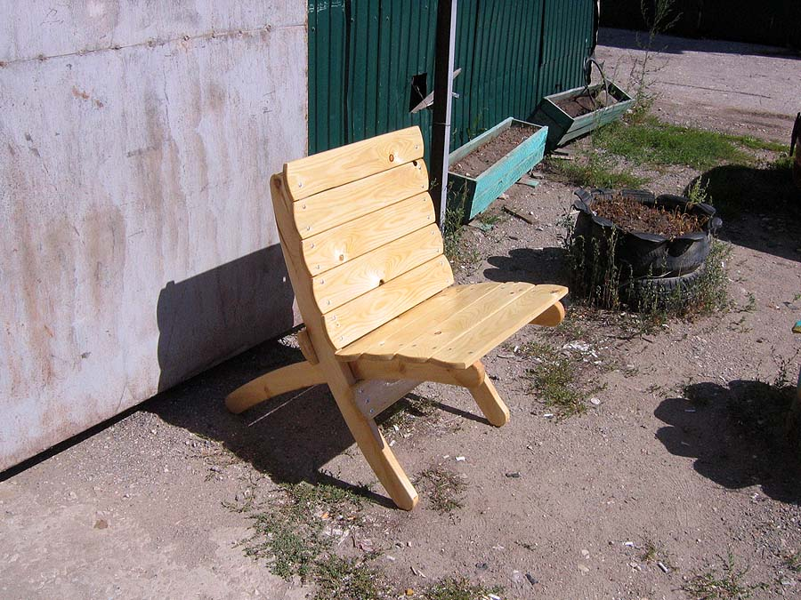Кресло своими руками на даче 74